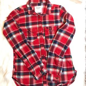 ABERCROMBIE AND FITCH FLANNEL PLAID LONG SLEEVES